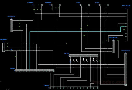 Пример схемы в AutoCAD Electrical