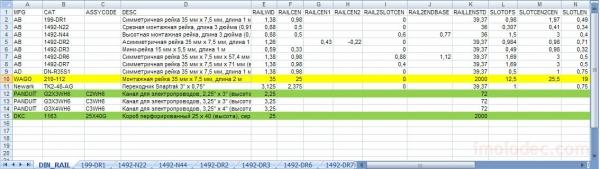 Пример добавления DIN-рейки WAGO 210-112