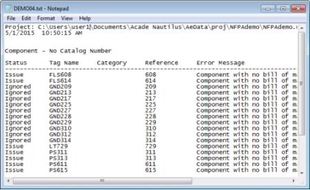 Сохранение ошибок во внешний файл