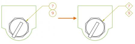 Обновление обозначений номеров позиций на чертеже