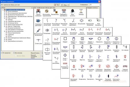 Библиотеки условных графических обозначений