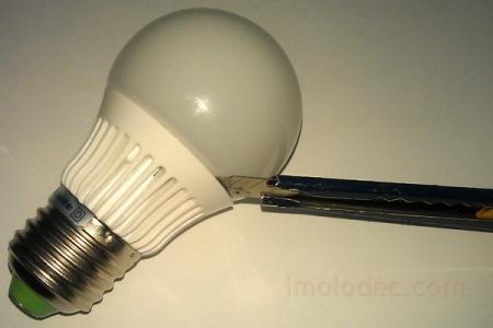 Разборка светодиодной лампы