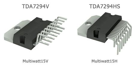 Отличие в корпусах TDA7294. Типы исполнения.