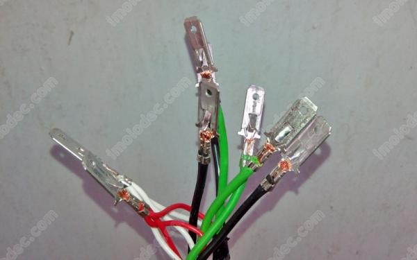 Обжатые контакты на проводах