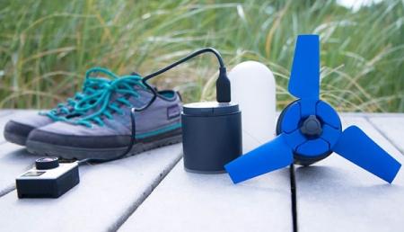 Портативная турбина для зарядки телефона