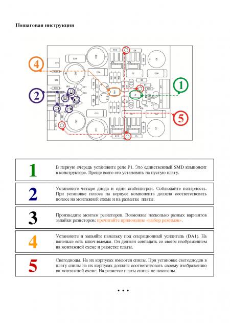 Инструкция по сборке конструктора «Гамма»