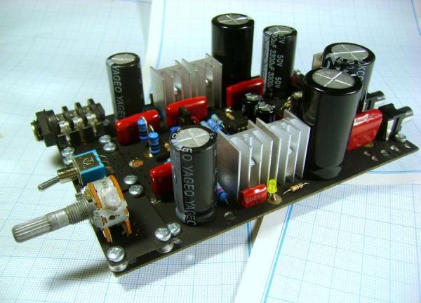 Прототип усилителя для наушников «Гамма»