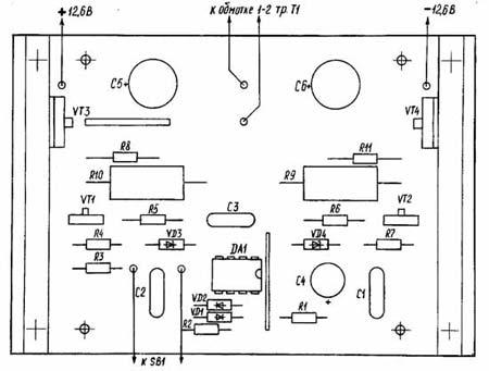 Монтажная схема инвертора